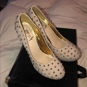 Posh studded pumps